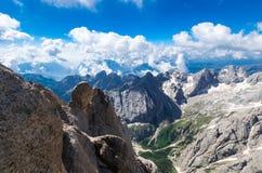 Marmolada massiv, Dolomiti, Itay Royaltyfria Foton