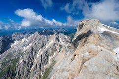 Marmolada massiv, Dolomiti, Itay Royaltyfri Bild