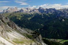 Marmolada och östliga Dolomites av Fassa Royaltyfri Bild