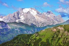 Marmolada Peak Stock Image