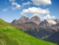 Marmolada peak. Val di Fassa - Italy Alps Royalty Free Stock Photo
