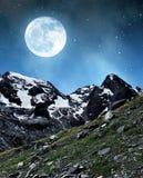 Marmolada peak in Val di Fassa Stock Image