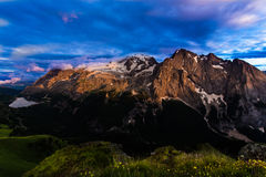 Marmolada after a storm Stock Images