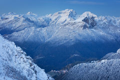 Marmolada summit in Dolomites in winter Stock Images