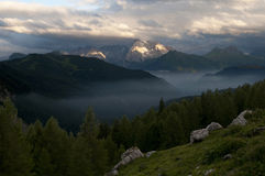 Marmolada Sunrise Stock Photography