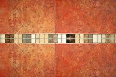 Marmor deckt Braun mit Ziegeln Stockfotos