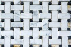 Marmor deckt Muster mit Ziegeln lizenzfreies stockfoto