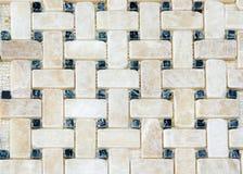 Marmor deckt Muster mit Ziegeln Lizenzfreie Stockfotos