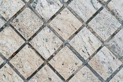 Marmor deckt Muster mit Ziegeln Stockfotos