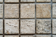 Marmor deckt Muster mit Ziegeln Stockfotografie