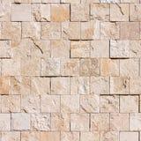 Marmor deckt Wand mit Ziegeln Stockfoto