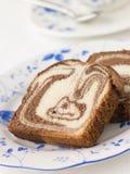 marmor för cakechokladmaderia royaltyfri fotografi
