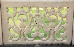 Marmor inristade väggar. Royaltyfri Foto