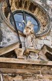 Marmor-Madonna- und Kinderstatue, Dubrovnik-Kirche, Kroatien stockfoto
