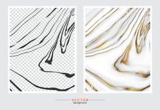 Marmor med guld- texturbakgrund vektor illustrationer