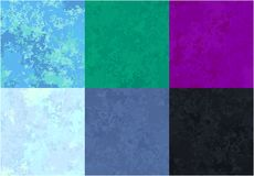 Marmor texture cold. Set of marble textures of various colors, cold shades stock illustration