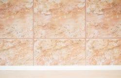 marmor tiles väggen Arkivbilder