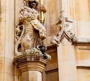 Marmor und Notfall-ue in der alten Stadt von London England Lizenzfreie Stockfotos