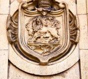 Marmor und Statue in altem von London England Stockfoto