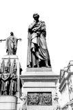 Marmor und Statue in der alten Stadt von London England Stockfoto