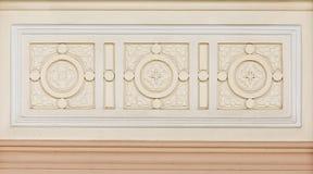 Marmor verzierte Hintergrundfliesentravertin, Mosaik Stockfotografie