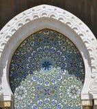 Marmorauslegung auf Moschee Hassan II, Casablanca Stockfoto