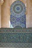Marmorauslegung von Moschee Hassan II, Casablanca Lizenzfreies Stockbild