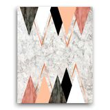 Marmorbakgrund med trianglar Geometriskt tryck för vektor för dig Arkivfoto
