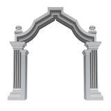 Marmorbarocker Eingangstor-Rahmensteinvektor Lizenzfreies Stockfoto