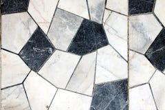 Marmorbeschaffenheits-Schwarzweiss-Mosaik-Hintergrund stockfoto