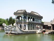 Marmorboot in Yi er Yuan Stockbilder