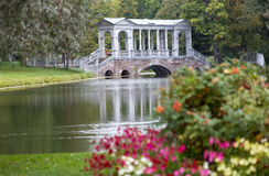 Marmorbrücke. Catherine Park. Tsarskoye Selo Lizenzfreie Stockfotografie