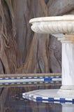 Marmorbrunnen Stockbild