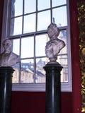 Marmorbystutställning i det regements- museet i stadsmuseet i Lancaster England i mitten av staden arkivfoto