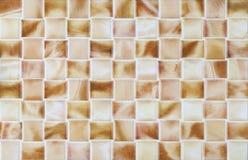 Marmorcollagenbraun deckt Mosaik mit Ziegeln Stockbild