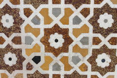 marmordekorering på gravvalvet av ITMAD-UD-DAULAH Royaltyfria Bilder