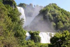 Marmore de la cascada Fotografía de archivo