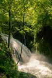 Marmore falls, Cascata delle Marmore, the tallest man made waterfall in the world, in Umbria Italy stock photo