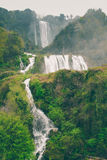 Marmore Falls and forest in Italy. Marmore Falls and forest (Italy Stock Photos