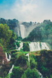 Marmore Falls in Italian land. Marmore Falls on Italian land Stock Images