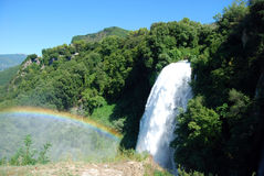 Marmore Falls with rainbow Royalty Free Stock Photos