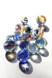 Marmore mit blauen Strudeln Stockfoto