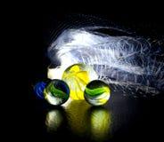 Marmore mit Fischernetzhintergrundphotographie Stockfoto