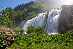 Marmore's Falls, Umbria, Italy. View of Marmore's Falls (Umbria, Italy), one of highest waterfall of Europe (165m Stock Photos