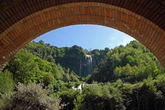 Marmore's Falls, Umbria, Italy. View of Marmore's Falls (Umbria, Italy), one of highest waterfall of Europe (165m Royalty Free Stock Photos