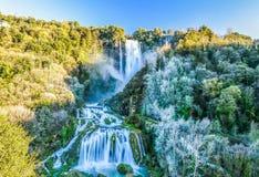 Marmore-Wasserfall Stockfotos