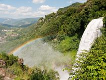 Marmore Waterfall, Umbria Italy - natural rainbow Royalty Free Stock Photography