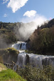 Marmore's Falls is a controlled-flow waterfall Royalty Free Stock Photo
