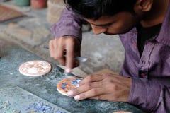 Marmoreinlegearbeit in Agra Lizenzfreies Stockbild