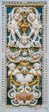 Marmorera detaljen för baslättnad i kyrkan av den Gesà ¹en i Palermo italy sicily royaltyfria foton